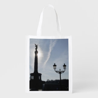 Victory-Column with street lamp 02.T, Berlin Reusable Grocery Bag