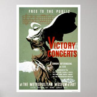 Victory Concert Met NYC 1938 WPA Poster