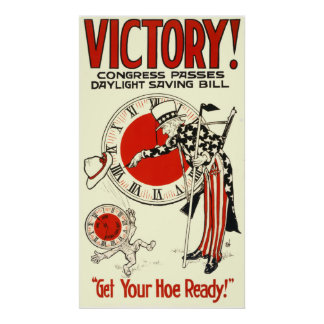 VICTORY! CONGRESS PASSES DAYLIGHT SAVING BILL POSTER