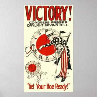 VICTORY! CONGRESS PASSES DAYLIGHT SAVING BILL POSTER