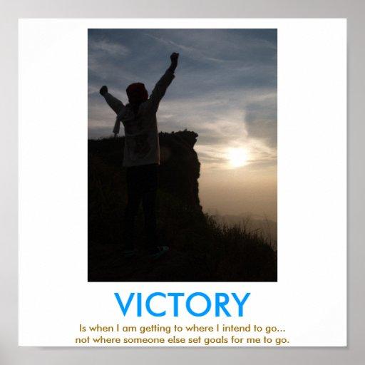 VICTORY demotivational poster