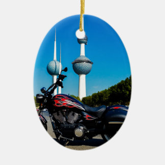 Victory High Ball at Kuwait Towers Ceramic Oval Ornament