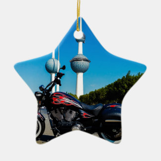 Victory High Ball at Kuwait Towers Ceramic Star Ornament