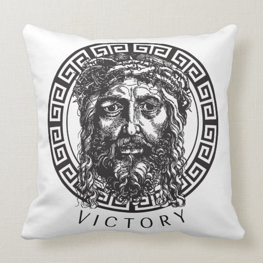 Victory in Jesus Throw Pillow