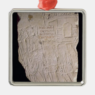 Victory of Constantine the Great over Silver-Colored Square Ornament