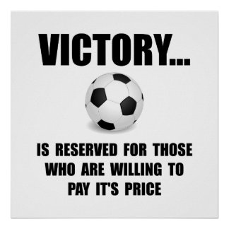 Victory Soccer Poster
