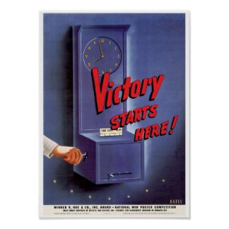 Victory Starts Here! Poster