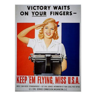 Victory Waits on Your Fingers Poster