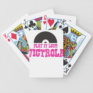 Victrola Play It Loud Bicycle Playing Cards