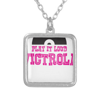 Victrola Play It Loud Silver Plated Necklace
