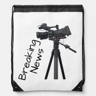 Video camera drawstring bag