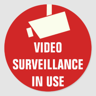 Video Camera Surveillance In Use Stickers
