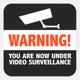 Video Camera Surveillance Square Sticker