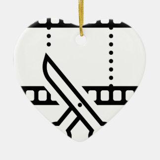Video Cut Ceramic Ornament
