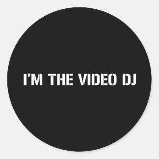 Video DJ Classic Round Sticker