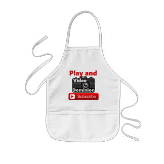 Video Dominion YouTube channel Play and Subscribe Kids Apron