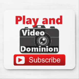 Video Dominion YouTube Subscribe and Play Mouse Pad
