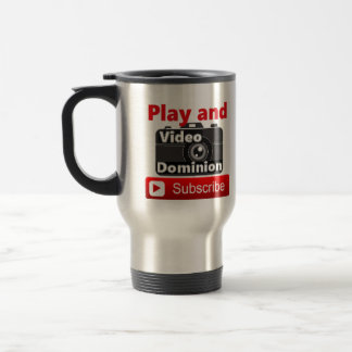 Video Dominion YouTube Subscribe and Play Travel Mug