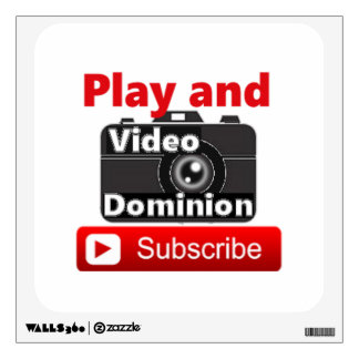 Video Dominion YouTube Subscribe and Play Wall Sticker