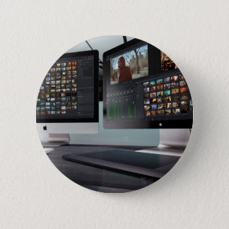 Video Editing 2 Inch Round Button