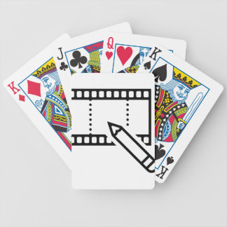 Video Editing Bicycle Playing Cards