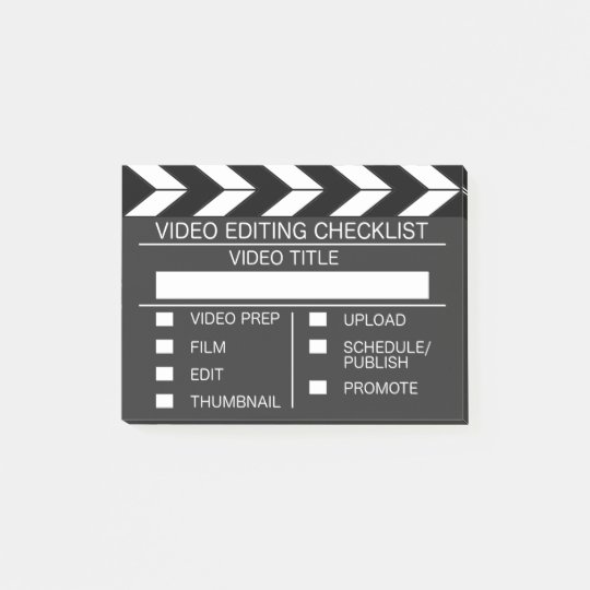 Video Editors Checklist Post-its Post-it® Notes