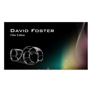 Video Film Editor Cutter Director Business Card Template