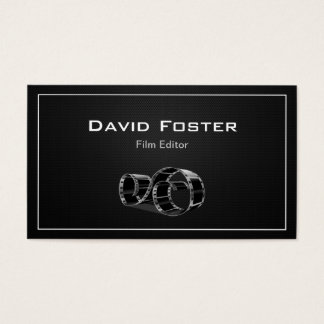 Video Film Editor Cutter Director Business Card