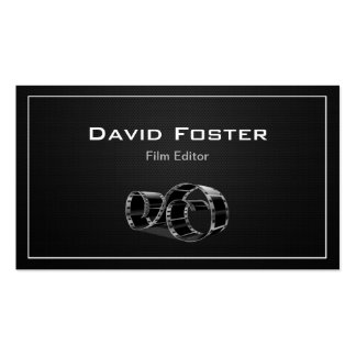 Video Film Editor Cutter Director Business Card Templates