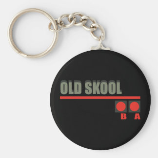 Video Game 101 at Old School Basic Round Button Keychain