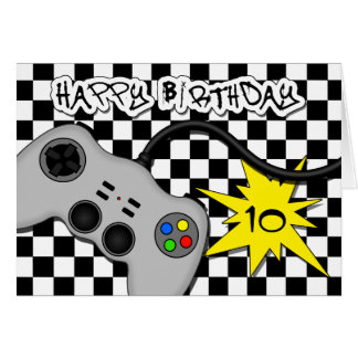 Video Game Controller Fun Kids Birthday Card