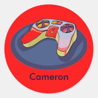 Video Game Controller Personalized Reward Sticker