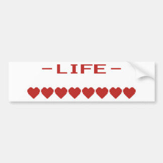 Video Game Heart Life Meter Bumper Sticker