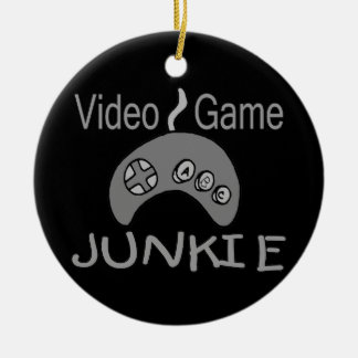 Video Game Junkie Ceramic Ornament