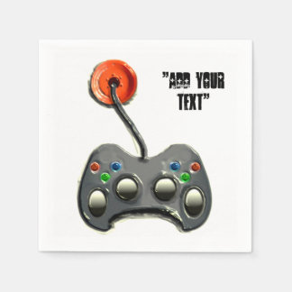 video game party paper napkins