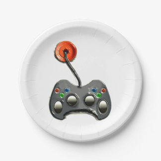 video game party plates 7 inch paper plate