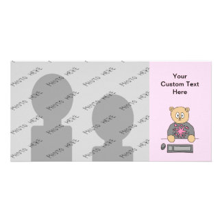 Video Game Player Bear. Photo Greeting Card