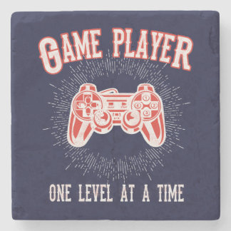 Video Game Player Game Room Accessory Stone Coaster