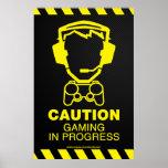 Video Game Poster - Gaming In Progress