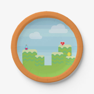 Video Game Themed Paper Plates 7 Inch Paper Plate