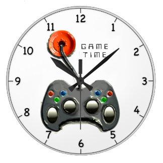 Video Gamer Large Clock