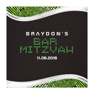 VIDEO GAMES Bar Mitzvah Memory Sign-In Board Canvas Print