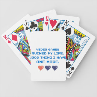 VIDEO GAMES BICYCLE PLAYING CARDS
