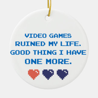 VIDEO GAMES CERAMIC ORNAMENT