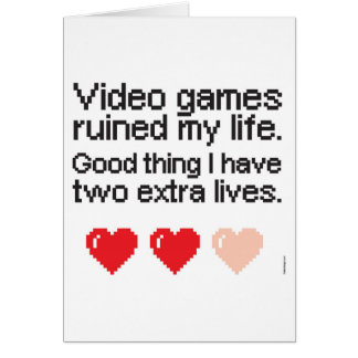 Video Games ruined my life Christmas card