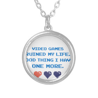 VIDEO GAMES SILVER PLATED NECKLACE