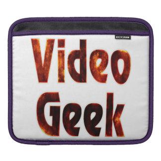 Video Geek Fire iPad Sleeves