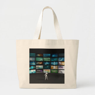 Video Marketing Across Multiple Channels Large Tote Bag