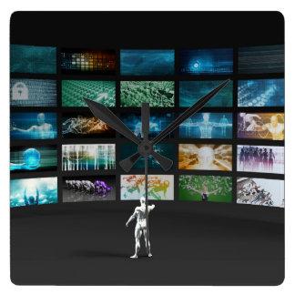 Video Marketing Across Multiple Channels Wall Clocks