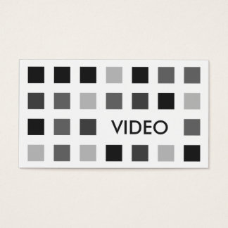 VIDEO (mod squares) Business Card